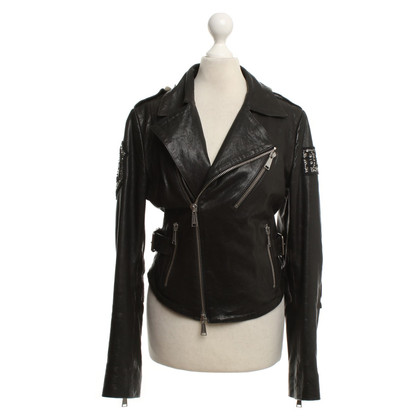 Philipp Plein Leather jacket in black