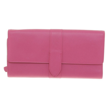 Smythson clutch in rosa