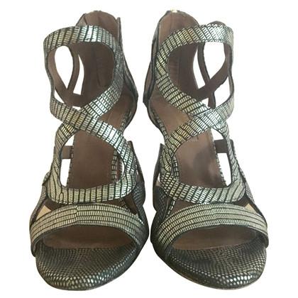 Aquazzura Zilveren Athena sandalen