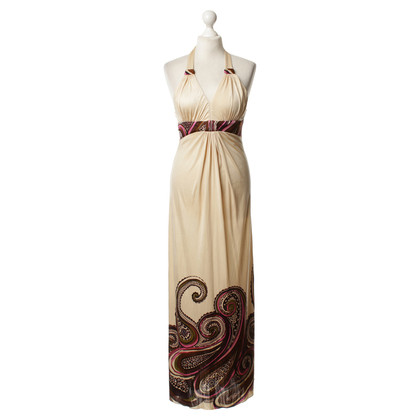 Sky Neckholder-Maxi-Kleid mit Print