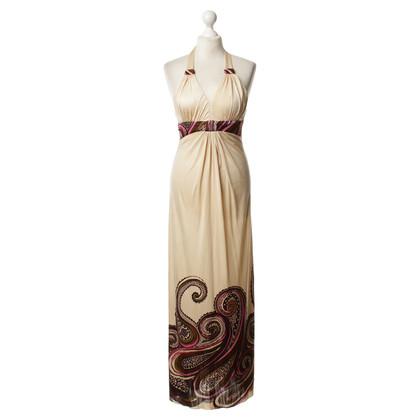 Sky Print Halter Maxi dress