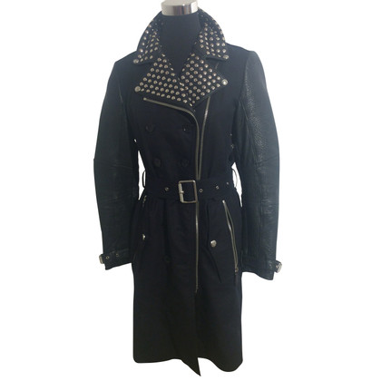 Burberry Prorsum Cotton / leather coat