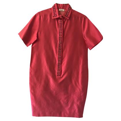 Au Jour Le Jour Silk dress in fuchsia