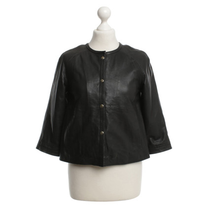 Guido Maria Kretschmer Leather Jacket in Black