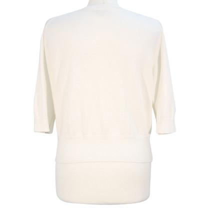 Hobbs maglione di seta in bianco