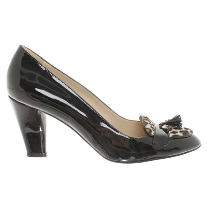 Hobbs in pelle verniciata pumps