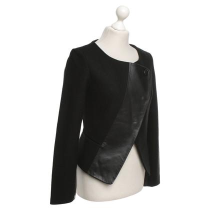 Oakwood Jacket with genuine leather trim