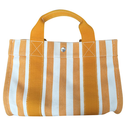 Hermès Cannes striped cotton PM handbag