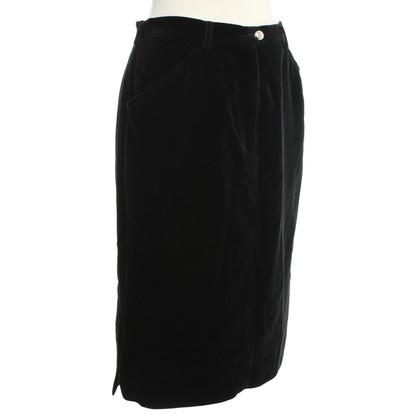 Valentino Velvet skirt in black
