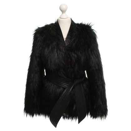 Balmain X H&M Faux fur jacket with leather details