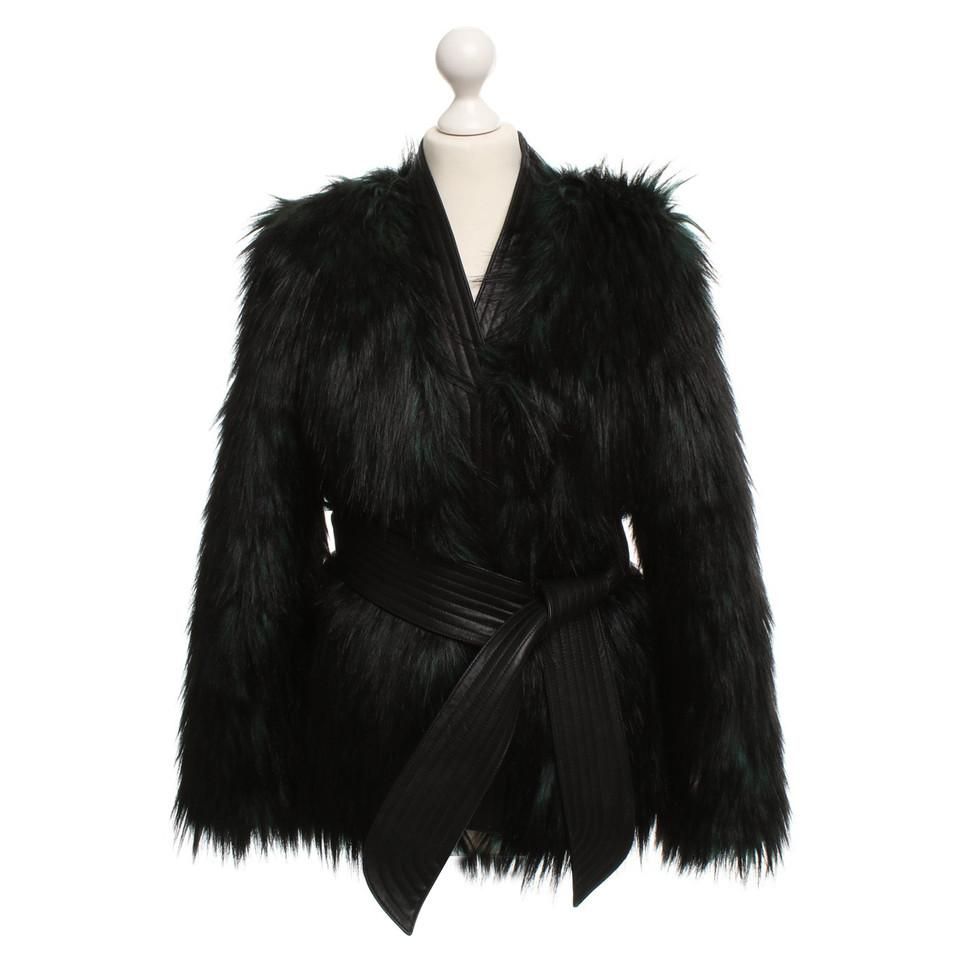 Balmain X H&M Faux Fur Jacket With Leather Details