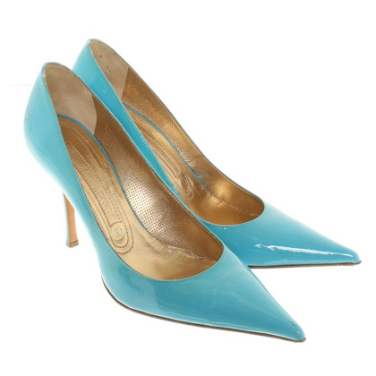 Gianmarco Lorenzi pumps made of lacquered leather