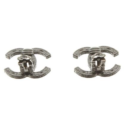 Chanel Oor clip in zilverkleur