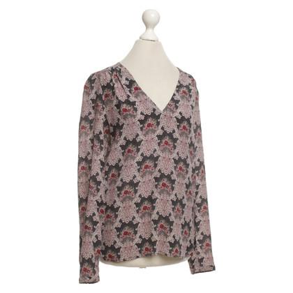 Comptoir des Cotonniers Blouse en soie avec un motif floral