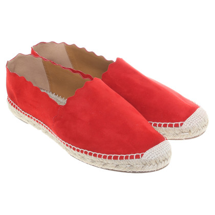 Chloé Red slippers with bast