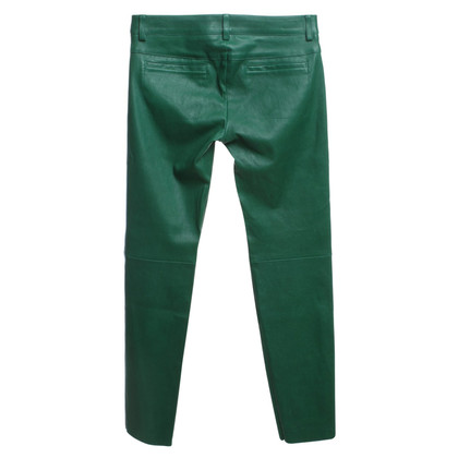 Escada Leather pants in green