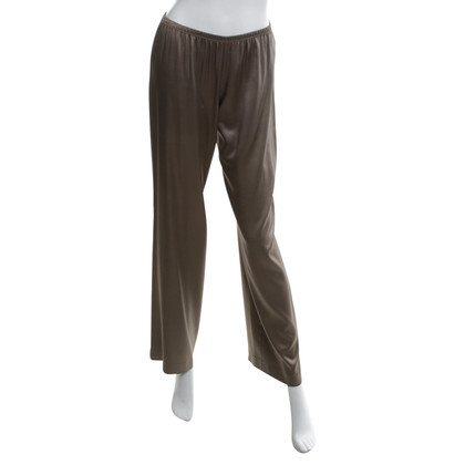 P.A.R.O.S.H. Silk trousers in light brown