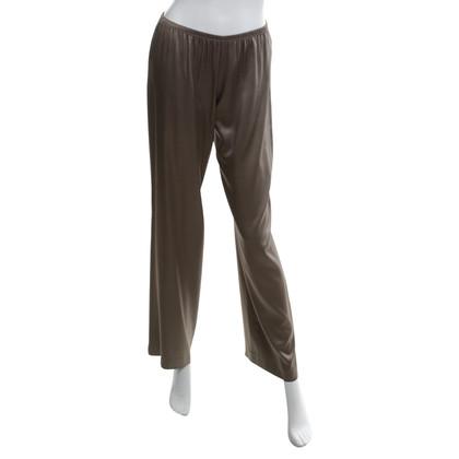 P.A.R.O.S.H. pantaloni di seta in marrone chiaro