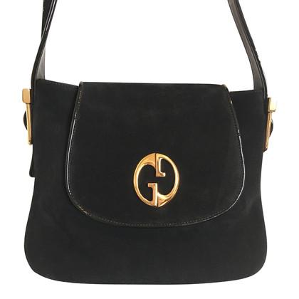 Gucci Borsa Gucci camoscio nero