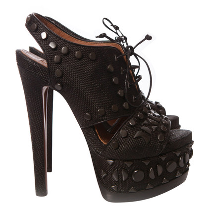 Alaïa Laced platform sandals
