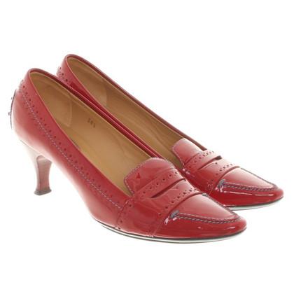 Tod's Dark red patent leatherpumps