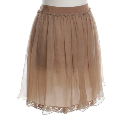 Philosophy di Alberta Ferretti Silk skirt in ochre