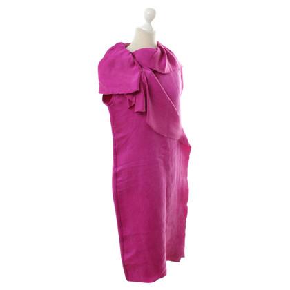 Lanvin Silk dress with Flounce