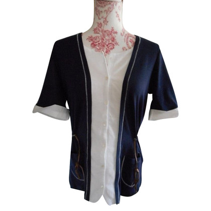Fabiana Filippi Blouse Cardigan 2-in-1