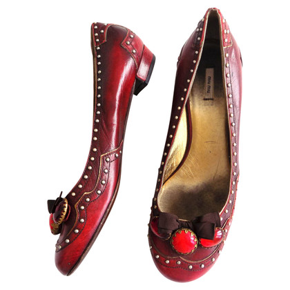 Miu Miu Red ballerinas