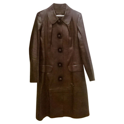 Louis Vuitton leather coat