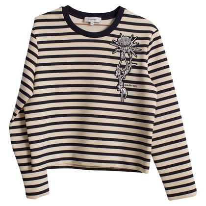 Carven Striped neoprene sweater