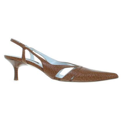 Escada Slingback pumps in Cognac Brown