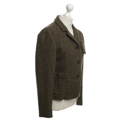 Schumacher Patterned wool blazer in Olive