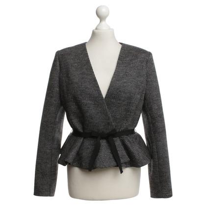 Paule Ka Wool blazer in zwart / grijs