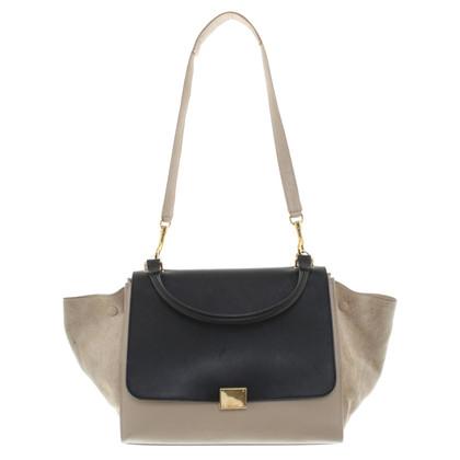 """Céline """"Trapeze Bag Medium"""" in beige / black"""