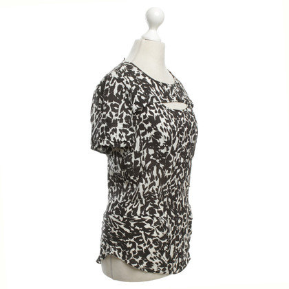 Isabel Marant Silk blouse in black / white