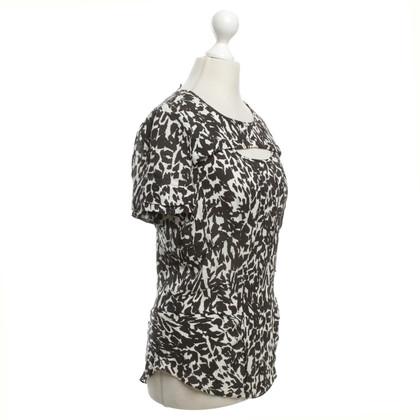 Isabel Marant camicetta di seta in bianco / nero