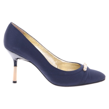 Chanel pumps in donkerblauw