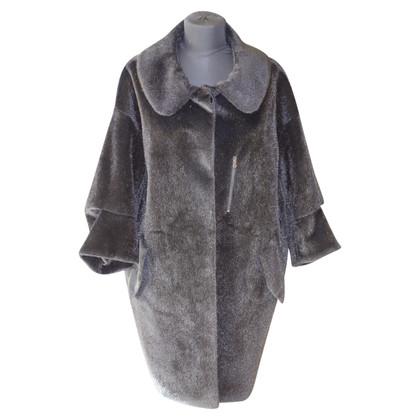 Schumacher fake fur coat in dark brown