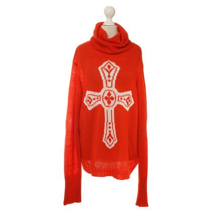 Wildfox Rollkragenpullover mit Kreuz-Motiv