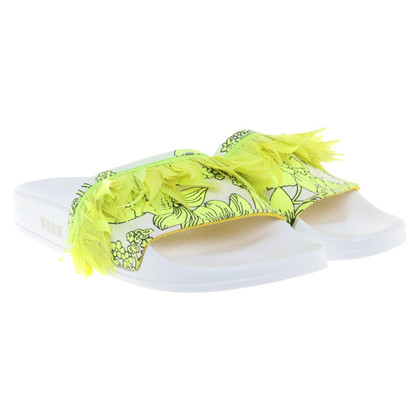 MSGM Sandals with feathers