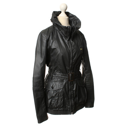 Blauer USA Windbreaker in Schwarz