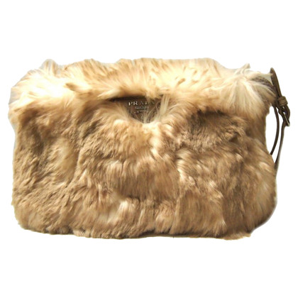 Prada clutch faux fur