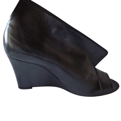Maison Martin Margiela Margiela black wedge open toe shoes