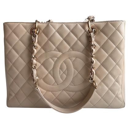 "Chanel ""Grand Shopping Tote"" gemaakt van caviar leer"