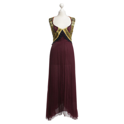 Alberta Ferretti Long dress with embroidery