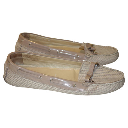 Bogner Loafer / slipper met reptiel embossing