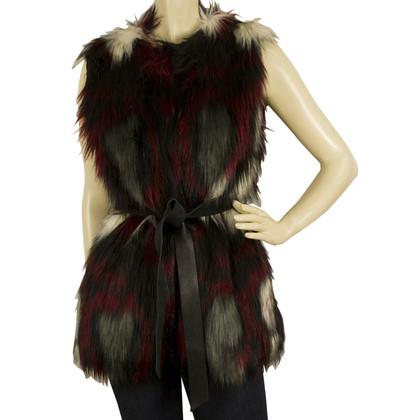 Pinko Vestito di pelliccia del faux