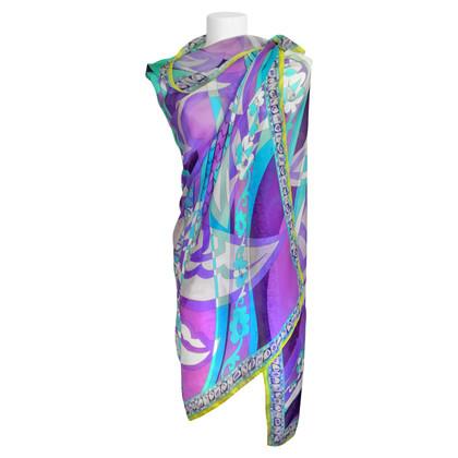Emilio Pucci Silk scarf with pattern