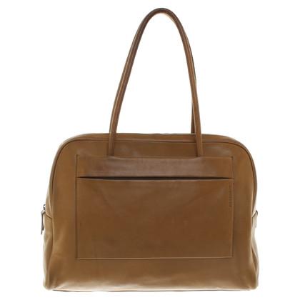 Jil Sander sac à bandoulière de couleur ocre